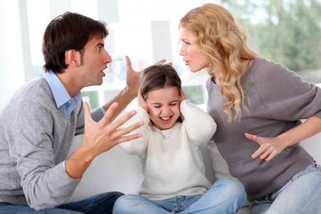 Выяснения отношений при ребенке
