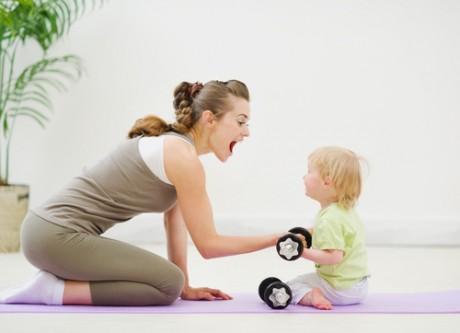 Утренняя гимнастика для мамы и малыша